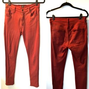 Citizens Red Waxed Jeans